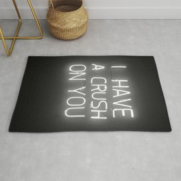 I Have a Crush on You (Black and White) Rug