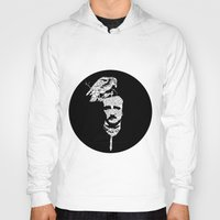 edgar allan poe Hoodies featuring Edgar Allan Poe collage by GraphicDivine