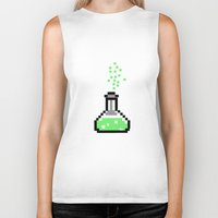 chemistry Biker Tanks featuring the chemistry by muffa
