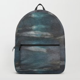 Tie Dye in Blue and Green 12 Backpack