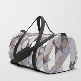 Triangle Pattern no.22 grays Duffle Bag