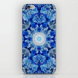Aqua Crystal Mandala iPhone Skin