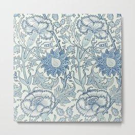 William Morris Beautiful floral pattern, blue,rose,william Morris pattern, art nouveau pattern Metal Print