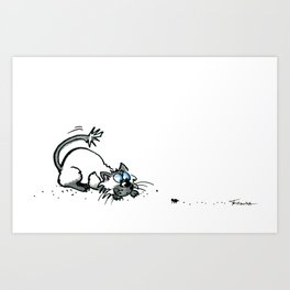 Scaredy Cat Art Print