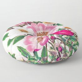 Wild roses Floor Pillow