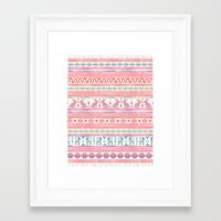 mexican Framed Art Prints featuring Mexican Blanket by Sian Keegan