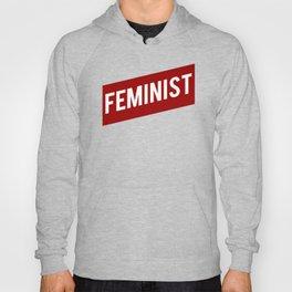 FEMINIST RED WHITE BANNER Hoody
