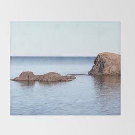 A Calm in Lake Superior Throw Blanket