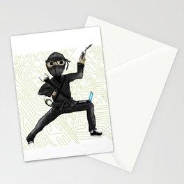 Cyber Ninja Stationery Cards