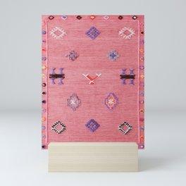 Pink Oriental Traditional Boho Moroccan Style Design Artwork Mini Art Print