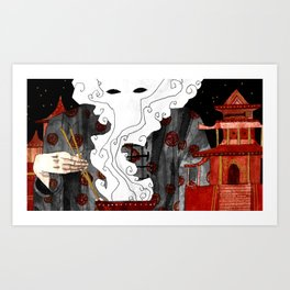 """Beijing"" Illustration Tarmasz Art Print"