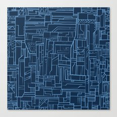 Electropattern (Blue) Canvas Print