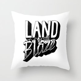 Land of the Blaze Throw Pillow