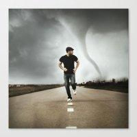 running Canvas Prints featuring Running by Jovana Rikalo