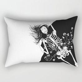 girl skeleton flower Rectangular Pillow