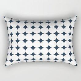 Circles (Annapolis Blue) Rectangular Pillow