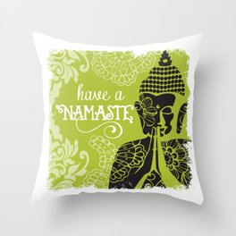 Have a Nasmaste Throw Pillow