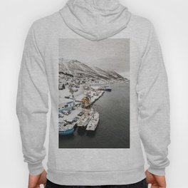 Boats in Tromsø in Northern Norway, Above the Arctic Circle Hoody