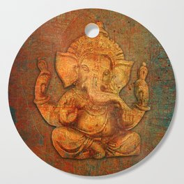 Lord Ganesh On a Distress Stone Background Cutting Board