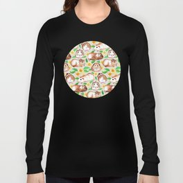 Guinea Pigs and Daisies in Watercolor Long Sleeve T-shirt