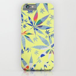 Abstract Marijuana Pattern 8 iPhone Case