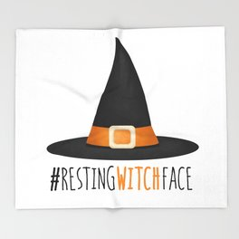 #RestingWitchFace Throw Blanket