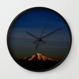 Wintery Sunset Wall Clock