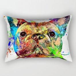 French Bulldog Grunge Rectangular Pillow