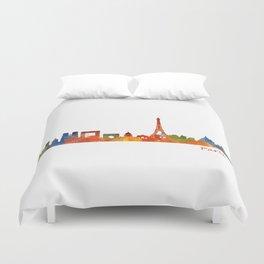 Paris City Skyline Hq v1 Duvet Cover
