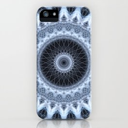 Silver and gray mandala iPhone Case