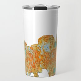 Augusta, Maine Skyline - Rust Travel Mug