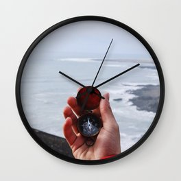 On with the Wanderlust - Find Your Way to Adventure Wall Clock