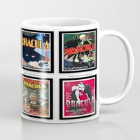 dracula Mugs featuring DRACULA by Kathead Tarot/David Rivera