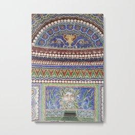 Mosaic Fountain Metal Print