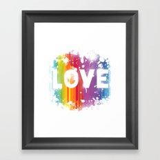 For Love - White Background Framed Art Print