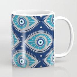 Greek Mati Mataki - Matiasma Evil Eye Pattern #4 Coffee Mug