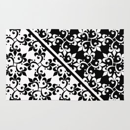 Black and white ornament. Rug