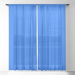 Unfinished ~ Bright Blue Sheer Curtain