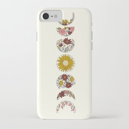 Floral Phases of the Moon iPhone Case