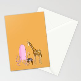 Octopus and Giraffe Stationery Cards