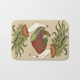 Eating is caring Bath Mat