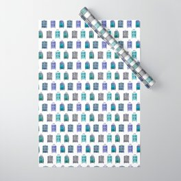 Let's Go Somewhere - Blue Wrapping Paper