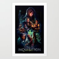 dragon age inquisition Art Prints featuring Inquisition by Ililaz