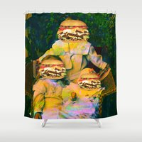 mac Shower Curtains featuring Mac Attack by Tyler Spangler
