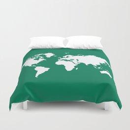 Emerald Elegant World Duvet Cover