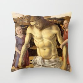Giovanni Bellini - Dead Christ Supported by Two Angels Throw Pillow