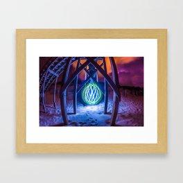 Ocean Orb Framed Art Print