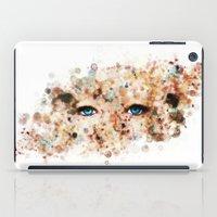 jennifer lawrence iPad Cases featuring Eyes (Jennifer Lawrence) by Rene Alberto