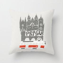 Prague Cityscape Throw Pillow