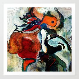 Orange Abstract Art / Surrealist Painting Art Print